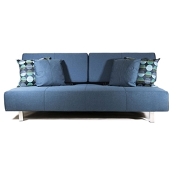 Vegas Modern Blue Fabric Sleeper Sofa Bed