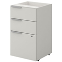 Velocity Modern 3-Drawer White File