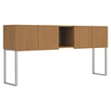 Velocity 72 Inch Modern Office Hutch in Harvest