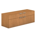 Velocity Modern Office Credenza in Harvest Laminate