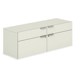 Velocity Modern Office Credenza in Silver Mesh Laminate