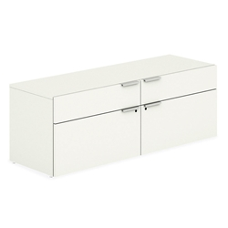 Velocity Modern Office Credenza in White Laminate