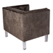 Vendela Brown Mohair Contemporary Chair