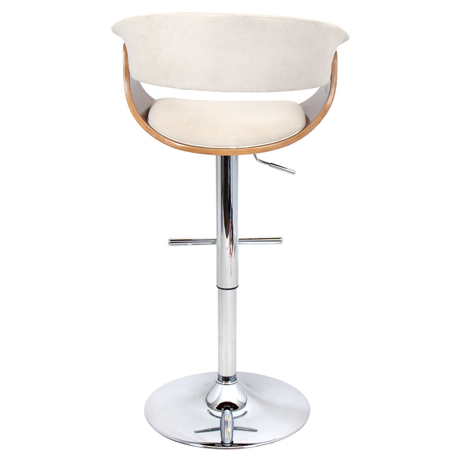 ... Venice Modern Adjustable Stool - Back View ...  sc 1 st  Eurway & Venice Modern Walnut + Cream Adjustable Stool | Eurway islam-shia.org