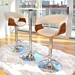 Venice Modern Walnut + Cream Bar Stools