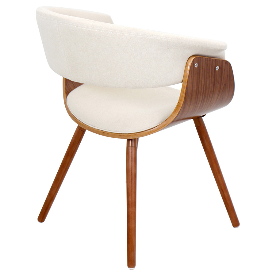 ... Venice Modern Cream Lounge Chair   Back View ...