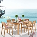 Venus Contemporary Outdoor Ash Wood Dining Set