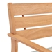Venus Modern Outdoor Ash Wood Dining Chair - Backrest Detail