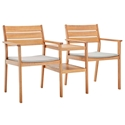 Venus Modern Wooden Outdoor Chair and Table Set
