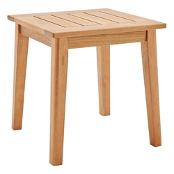 Venus Modern Outdoor Ash Wood End Table