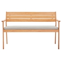 Venus Modern Outdoor Wooden Loveseat - Front View