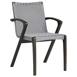 Modloft Verge Modern Outdoor Dining Chair in Light Gray