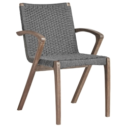 Modloft Verge Modern Outdoor Dining Chair in Shades of Gray