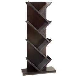 Vergo Modern Slanted Bookshelf