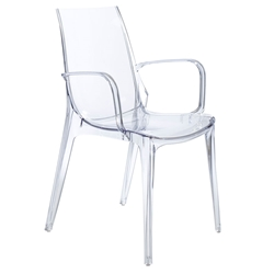 Vanity Modern Transparent Arm Chair