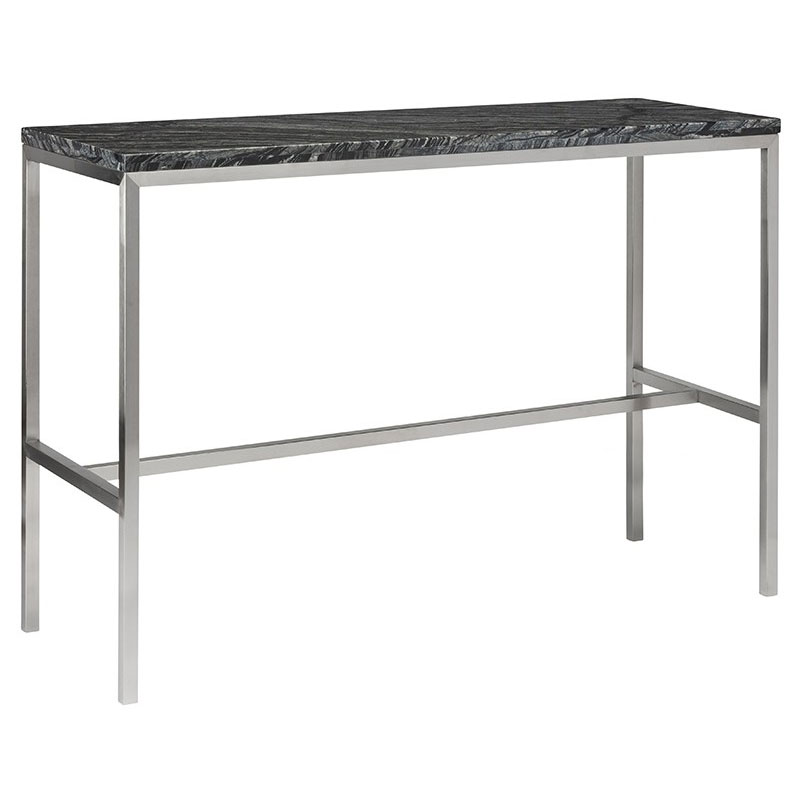 Verona Marble Coffee Table: Verona Black Marble + Steel Modern Counter Table By Nuevo