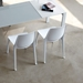 Verona Contemporary Glossy White Side Chair
