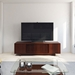 Vertica Chocolate Low Contemporary TV Stand Room