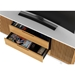 Vertica Oak Contemporary TV Stand Drawer Detail