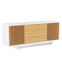 Vertica Oak Contemporary TV Stand