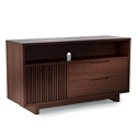 Vertica Chocolate Tall Contemporary TV Stand