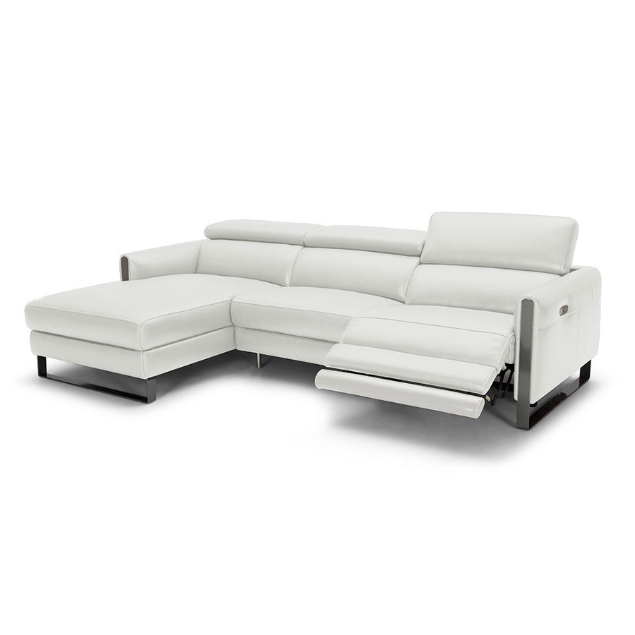 Vertigo sofa w left facing chaise light gray eurway for Couch w chaise lounge