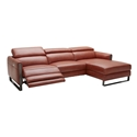 Vertigo Modern Ochre Sofa w/ Chaise + Recliner - Right Facing