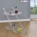 Vevey Clear Acrylic Modern Serving Cart w/ 2 Tiers