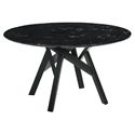 Victor Modern 54 inch Round Black Marble Dining Table