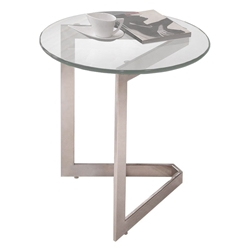 Victor Modern Glass Top End Table