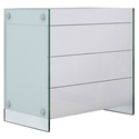 Victory White + Clear Glass Contemporary Chest of Drawers