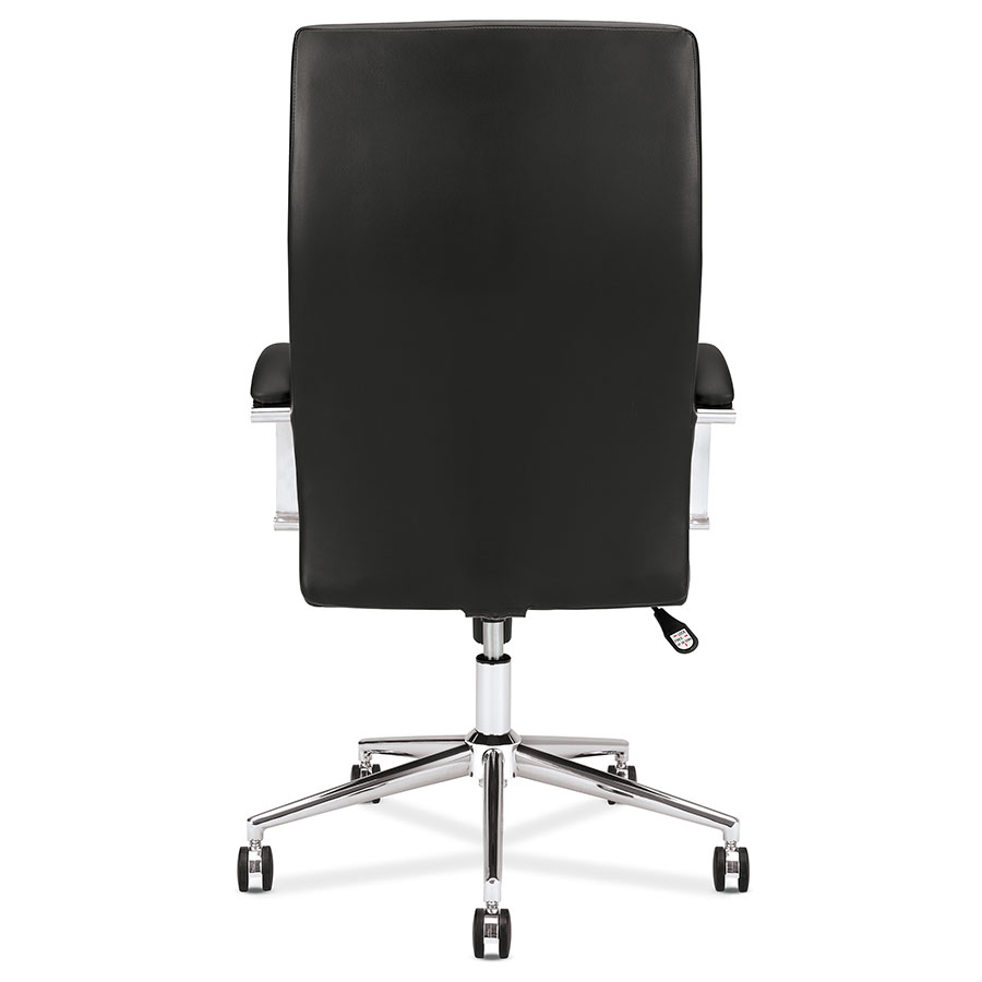 Modern leather office chair -  Victory Modern Black Leather Office Chair Back View