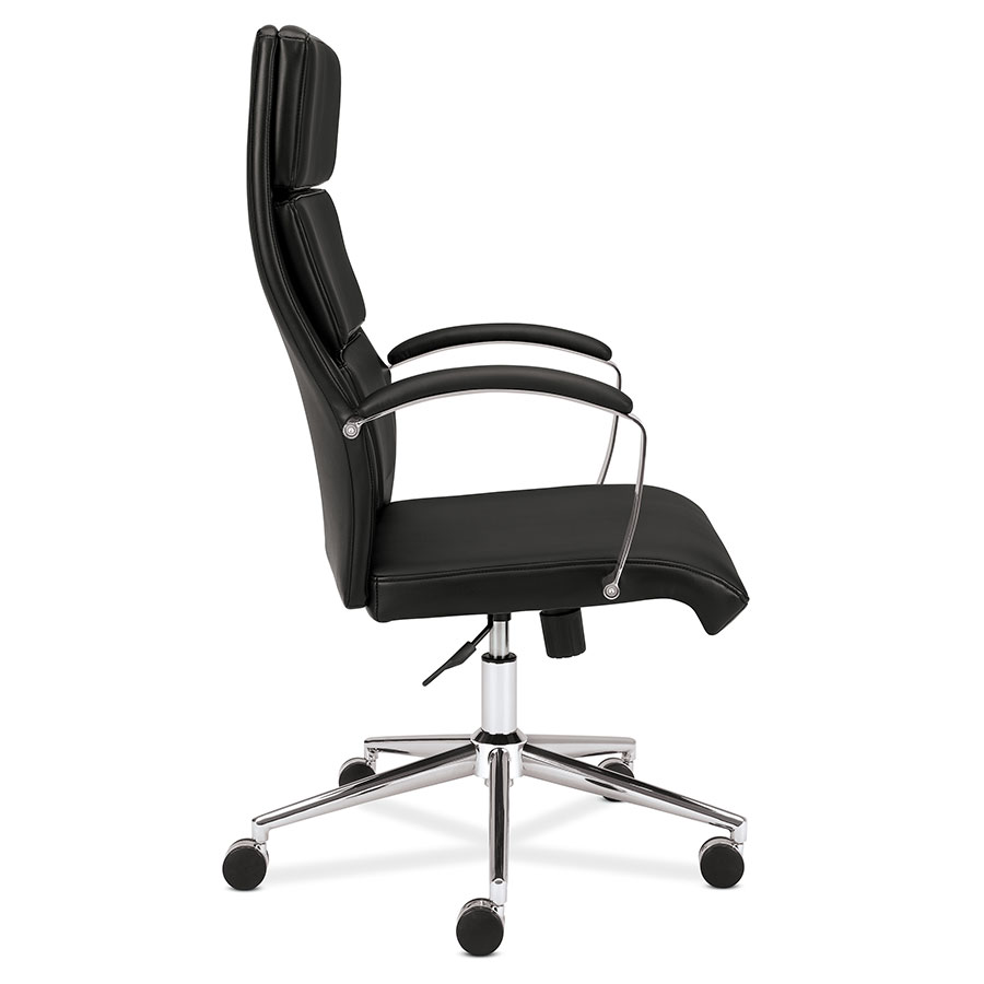 office chair side. Simple Office Victory Modern Black Leather Office Chair  Side View And A