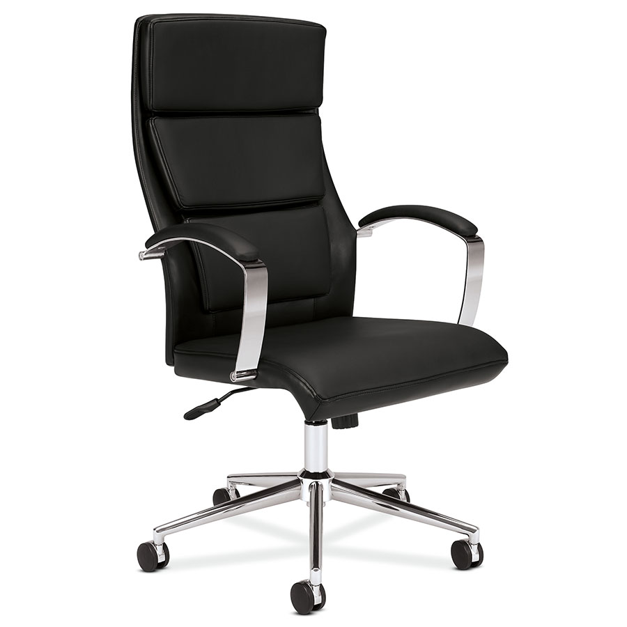 Bon Victory Black Modern Leather Office Chair