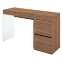 Victory Clear Glass + Walnut Veneer Modern Vanity