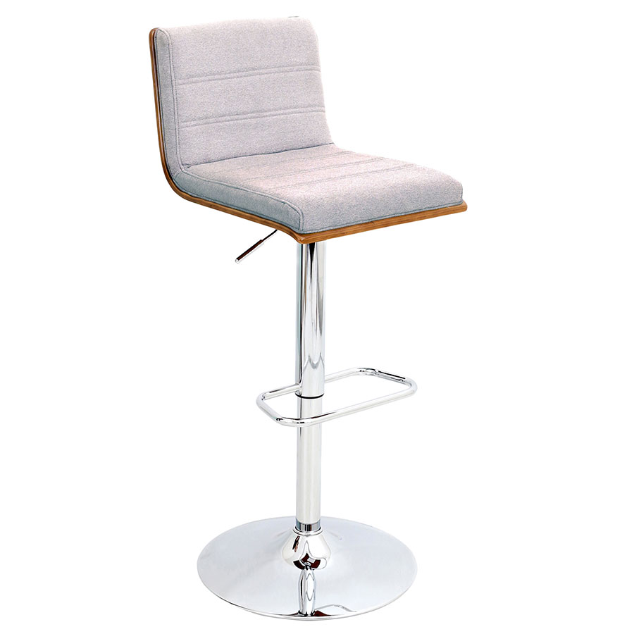 Vikram Modern Adjustable Gray Bar Stool