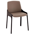 Vilante Modern Two-Tone Taupe Side Chair by Euro Style