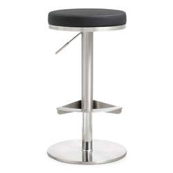 Vilma Black Adjustable Modern Stool