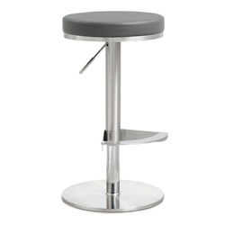 Vilma Gray Adjustable Modern Stool