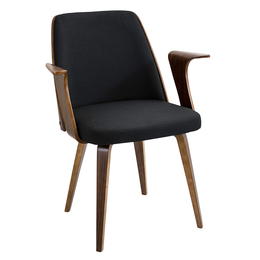Modern dining chairs vinka black arm chair eurway for Modern arm chair