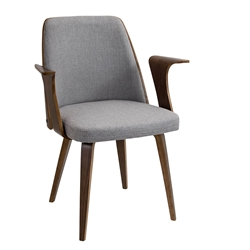 Vinka Gray Modern Arm Chair