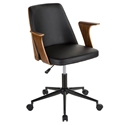 Vinka Modern Black + Walnut Office Chair