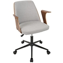 Vinka Modern Gray + Walnut Office Chair