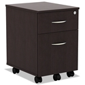 Virginia Modern 2-Drawer Espresso Mobile File Cabinet