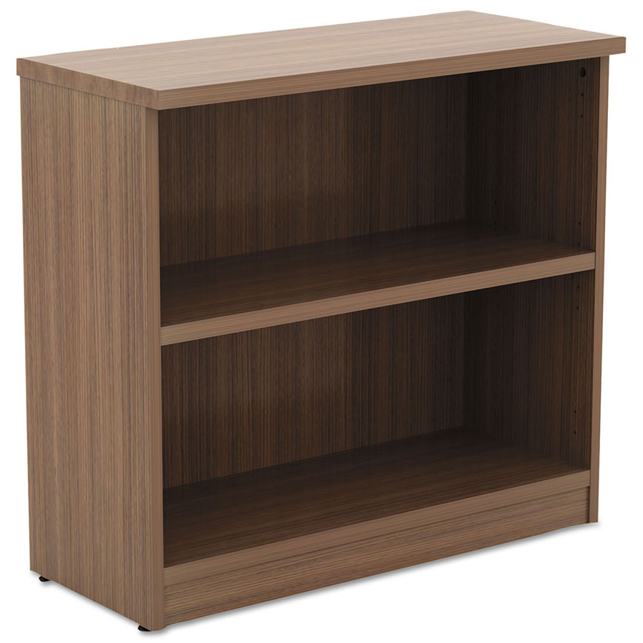 Virginia 29 Inch Modern Walnut Bookcase