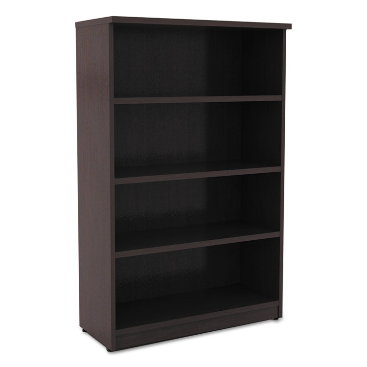 Virginia 55 Inch Modern Espresso Bookcase