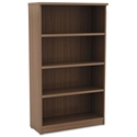 Virginia 55 Inch Modern Walnut Bookcase