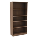 "Virginia 65"" Modern Commercial Grade Bookcase in Walnut Woodgrain Laminate"