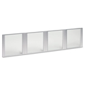 Virginia Modern Glass Hutch Door Set
