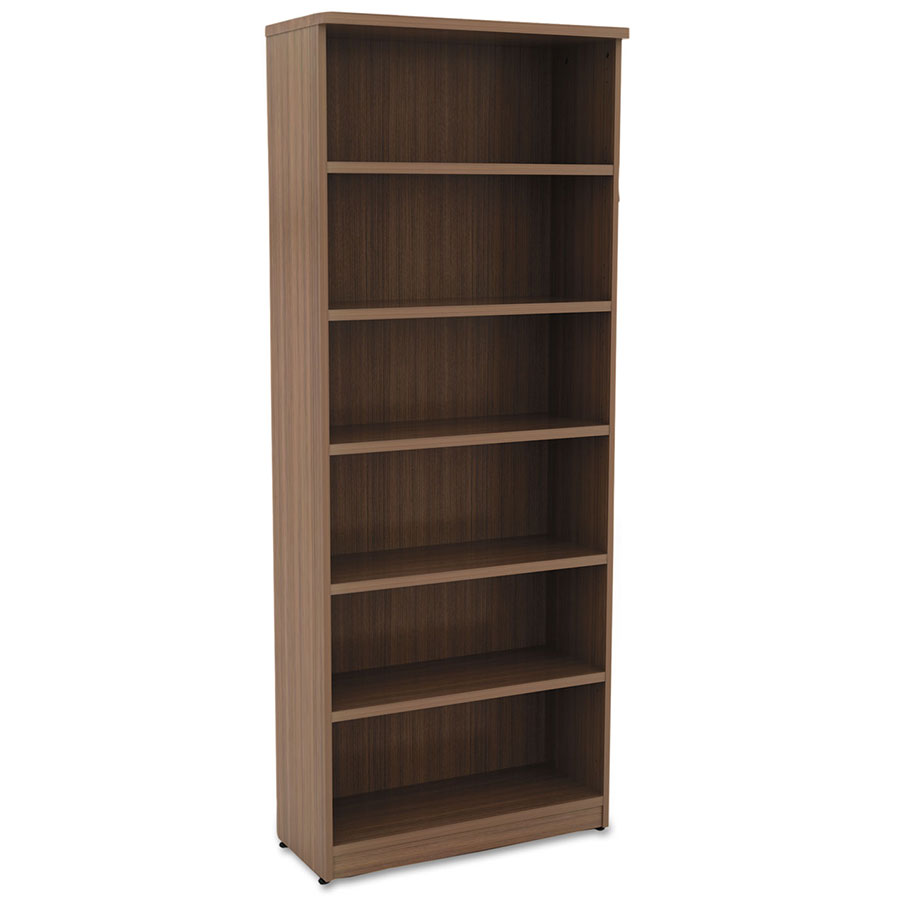 Virginia 80 Inch Modern Walnut Bookcase